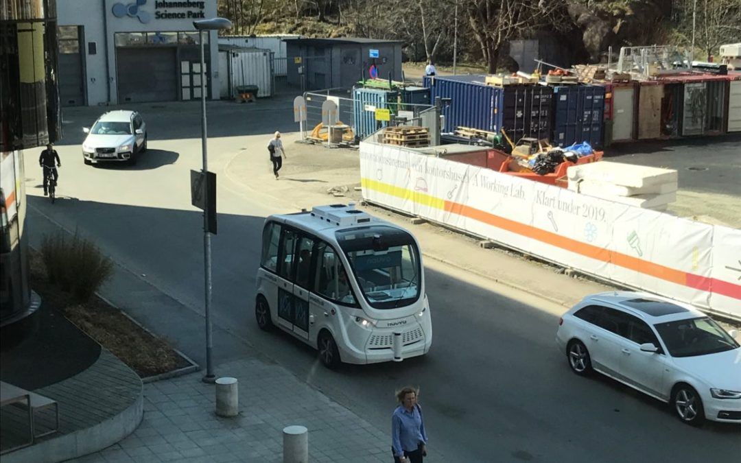 Nu övar bussen på chalmersområdet