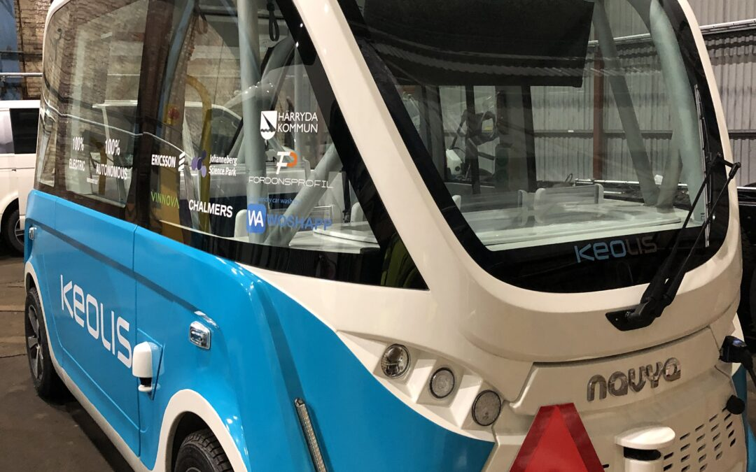 Pilot tests with self-driving minibuses in Gothenburg!