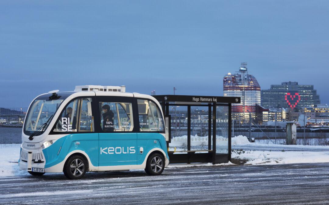 Har du hunnit testa den självkörande skyttelbussen på Lindholmen?