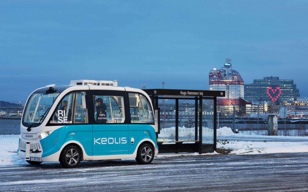 Nu startar en ny linje med självkörande bussar i Göteborg